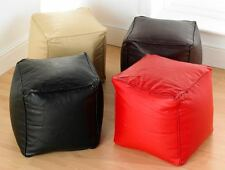 Faux Leather Footstool Cube Square Pouffe Footrest