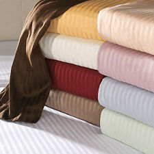 Home Linen Bedding Items 1000TC Egyptian Cotton UK Double Size Only Strip Colors