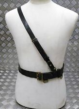 Genuine Vintage Military Issue Leather WW2 Ear Officers Sam Browne Belt VSB05