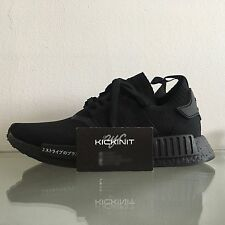 "ADIDAS NMD R1 PRIMEKNIT PK JAPAN ""TRIPLE BLACK"" - BZ0220 - SIZE 7 - 13 - IN HAND"