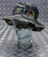Military Style Special Forces Boonie Hat / Bush hat Short Brim Tiger Camo - NEW