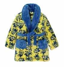 Boys Despicable Me Minions Dressing Gown Robe Soft Fleece Age's 5-11 Years NEW