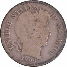 1909 Barber Liberty 90% Silver United States Dime *393