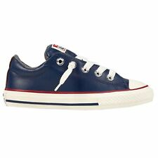 Converse CT All Star Street Slip Midnight Navy Terra Red Youth Leather Trainers