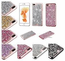 For Apple iPhone 7 Plus / 7 Bling Hybrid Glitter TPU Protective Hard Case Cover