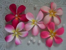 "50 FRANGIPANI Artificial Silk Flowers 3"" Wedding Hair Decorations Table Scatters"