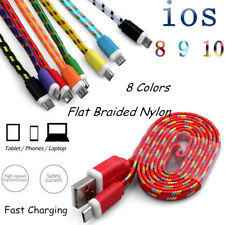 Strong Braided USB Data Sync Fast Charging Cable For iPhone 5 5S SE 6 6S 7 Plus