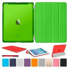 Slim Magnetic Leather Smart Cover Hard Back Case For Apple iPad Air 2 3 4 PRO