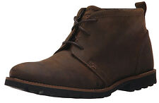 New Rockport Charson Leather Men Boots (MSRP $140) drk brwn