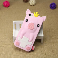 1Pcs iPhone 5/5S/SE Silicone Shell Phone Bag 4.0 inch Crown Pig Phone Case Cute