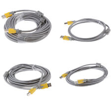 USB 2.0 A Male to B Male Cable High-Speed Connectors for Printer Laptop
