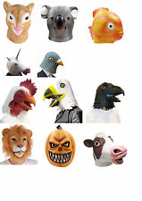 Creepy Funny Latex Adult Prop Head Mask Animal Costume Halloween Theater Party