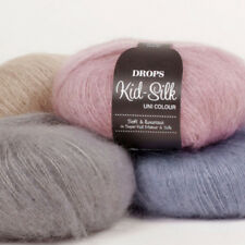 SALE-DROPS KID-SILK 75%KID MOHAIR 25%SILK LUXURY GLOSSY FLUFFY Knitting Yarn 25g