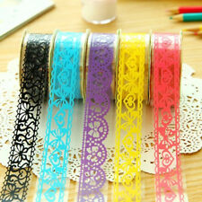 5 Rolls DIY Diary Adhesive Sticker Lace Tape Stationery Wedding Party Decor Gift