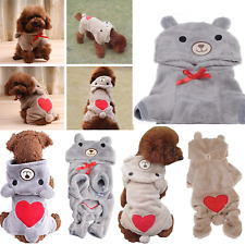 Cute Pet Dog Sweaters Winter Warm Costume Jumpsuit Clothes Hoodie Coat Apparel