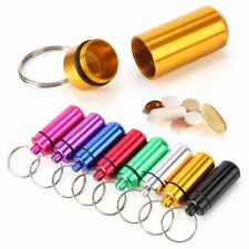 Hot Waterproof Pill Medicine Outdoor Storage Hoder Capsule Box Key Ring Chain