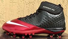 Mens Nike Lunar Superbad Pro TD Football Cleats Size 10 Blood Red/Black (MOLDED)