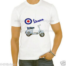 VINTAGE VESPA, 3, WITH VESPA LOGO SCOOTER ENTHUSIAST T SHIRT