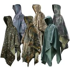 Military Raincoat Impermeable Army Camo Rain Coat Men Women Fishing Hunting New