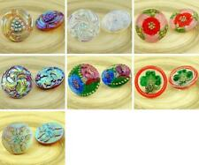 1pc Large Flower Handmade Czech Glass Buttons Size 12, 27mm