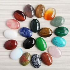 20pcs/lot 25*18mm Mixed Natural Stone Oval Cab Cabochon Teardrop Stone Beads