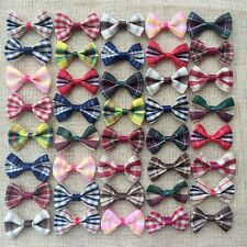 50pcs British style Hair Bow Clip Girls Baby Kids Grosgrain Ribbon accessories