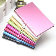 Pocket Solid Color Slim & Light Metal Business Credit ID Card Case Box Holder US