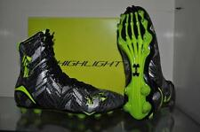 Under Armour Highlight MC Football/Lacrosse Cleats Black/Hi-Vis Yellow NIB