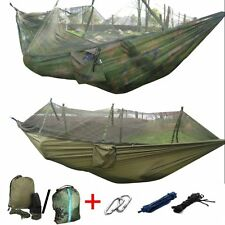 Travel Jungle Camping Outdoor Hammock Tent Hanging Nylon Bed + Mosquito Net