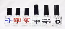 EMPTY Nail Polish Bottle PRE-PRINTED Labeled .5oz/15mL - CLEAR BOTTLE 5CT