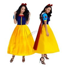 Women Adult Snow White Princess Costume Halloween Storybook Fancy Dress Outfit