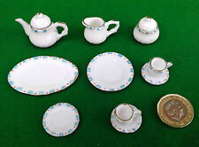 MINIATURE 10 PIECE TEA SET - DOLLS HOUSE.