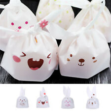 50pcs Rabbit Ear Packaging Bags Candy Gift Bags Plastic Bags Party Decor