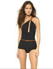 Michael Kors Collection One Shoulder Maillot One Piece Swimsuit