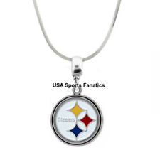 NFL Pittsburgh Steelers Team Logo Pendant Necklace On 925 Snake Chain  5 Sizes