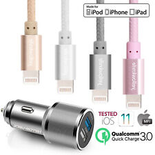Apple Certified Pink Nylon Heavy Duty Lightning USB Cable iPhone IPad IPod Girls