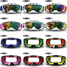 Goggles Motocross Motorcycle ATV Dirt Bike Adult Glasses Eyewear Clear Colored