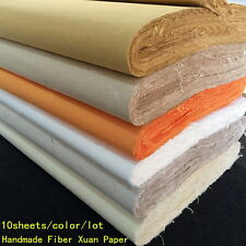 10pcs Chinese Rice Paper Long Fiber Xuan Paper Calligraphy Painting Handmade GH