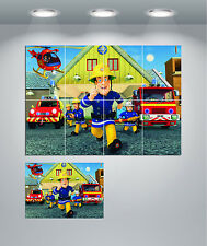 Fireman Sam Cartoon Kids Bedroom Giant Wall Art poster Print