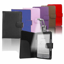 PU Leather Case Cover Wallet with Light for Amazon Kindle 4 4th 5 Generation
