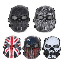 Skull Airsoft Party Mask Paintball Full Face Mask Army Games Mesh Eye Shield