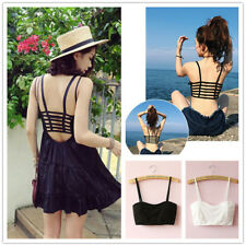 New Delicate Bralette Caged Back Cut Out Strappy Padded Bra Bralet Vest Crop Top