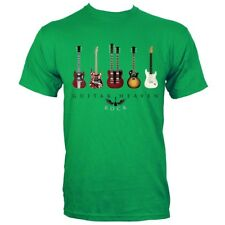 Guitar Heaven Classic Guitars Men's Green T-shirt