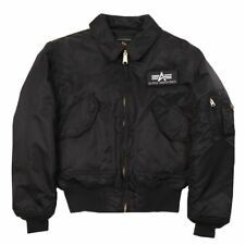 NWT Men Alpha Industries CWU 45/P Flight Jacket MJC22000C1 Green Black