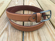 Men Waistband Belt Handmade Genuine Leather Pin Buckle Fashion Brown Casual Belt