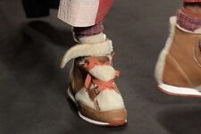 $1050 Authentic VIVIENNE WESTWOOD Men's Shearling Three Tongue Trainers Sneakers