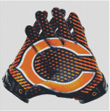 Cross stitch chart, Pattern, Chicago Bears, NFL, Football, USA, Picture