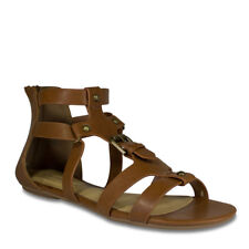 Womens Tan Open Toe Gladiator High Top Sandal City Classified Suzie-H