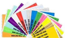 "3/4"" Custom Printed or Plain Paper Tyvek Wristbands Security,Events,Festivals"