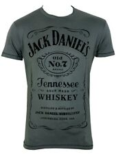 Jack Daniels Classic Mens Grey T-Shirt - NEW & OFFICIAL